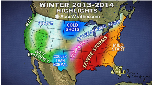 2013-2014 Long-Range Winter Forecast, Winter Weather & Snow Outlook ...